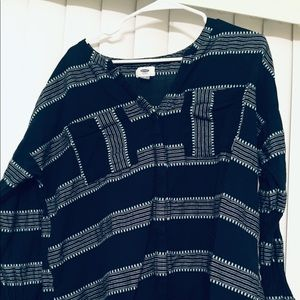 Flowy navy blue blouse